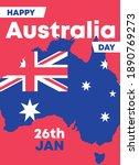 happy australia day greetings... | Shutterstock .eps vector #1890769273