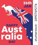 happy australia day greetings... | Shutterstock .eps vector #1890769276