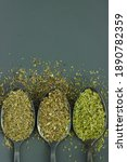 Three Different Green Spices ...