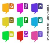 set of speak bubble with icon ... | Shutterstock .eps vector #189078866