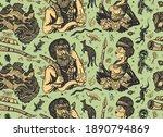 australia pattern. aboriginal... | Shutterstock .eps vector #1890794869