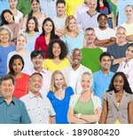 large group of people. | Shutterstock . vector #189080420