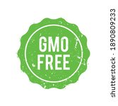 gmo free seal of approval stamp | Shutterstock .eps vector #1890809233