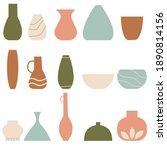 vase set. various forms of...   Shutterstock .eps vector #1890814156