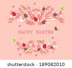 happy easter background | Shutterstock .eps vector #189082010