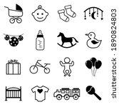 baby icon set  baby symbol...   Shutterstock .eps vector #1890824803