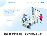 isometric construction project... | Shutterstock .eps vector #1890826759