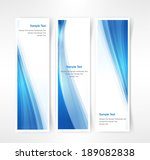 vector set of three header... | Shutterstock .eps vector #189082838