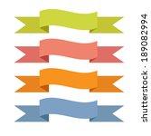 set of vector ribbons on white...   Shutterstock .eps vector #189082994