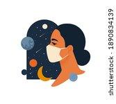 woman wearing face masks. ...   Shutterstock .eps vector #1890834139