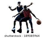two men basketball players... | Shutterstock . vector #189085964