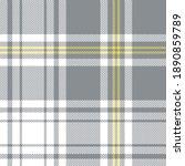 textured plaid pattern in grey  ... | Shutterstock .eps vector #1890859789