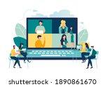online business conference ... | Shutterstock .eps vector #1890861670