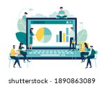 online business conference ...   Shutterstock .eps vector #1890863089