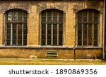 Three Large Old Windows In An...