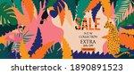 sale website banner. sale tag....   Shutterstock .eps vector #1890891523