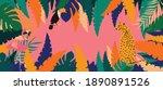 leopard  flamingo  toucan and...   Shutterstock .eps vector #1890891526