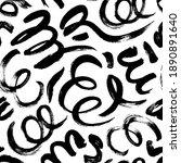 black paint freehand scribbles... | Shutterstock .eps vector #1890891640