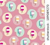 lovely ice   cream seamless... | Shutterstock .eps vector #189089270