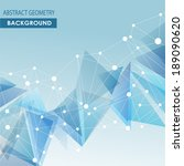 polygonal blue background.... | Shutterstock .eps vector #189090620