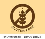 gluten free icon. crossed out... | Shutterstock .eps vector #1890918826