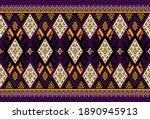 gemetric ethnic oriental ikat... | Shutterstock .eps vector #1890945913