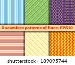 set of six fabric samples with... | Shutterstock .eps vector #189095744