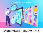 hiring search office work...   Shutterstock .eps vector #1890958216