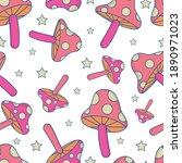magic mushroom vector seamless... | Shutterstock .eps vector #1890971023