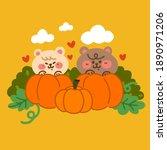 adorable two little bear...   Shutterstock .eps vector #1890971206