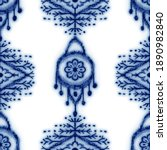 seamless classic blue and white ... | Shutterstock . vector #1890982840
