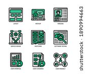ux ui design icons set filled... | Shutterstock .eps vector #1890994663