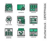 ux ui design icons set filled... | Shutterstock .eps vector #1890994666