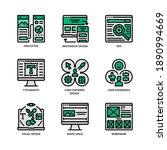 ux ui design icons set filled... | Shutterstock .eps vector #1890994669