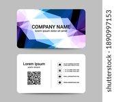modern business card template.  ...   Shutterstock .eps vector #1890997153