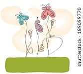 butterflies design ... | Shutterstock .eps vector #189099770