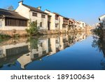an old chinese traditional town ... | Shutterstock . vector #189100634