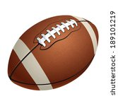 american football ball | Shutterstock .eps vector #189101219