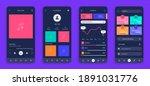 mobile ui. realistic smartphone ...