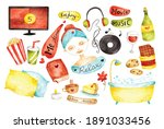 me time concept doodle water... | Shutterstock .eps vector #1891033456