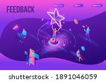 feedback concept with 3d... | Shutterstock .eps vector #1891046059
