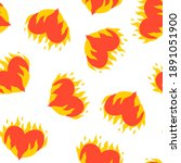 Seamless Pattern With Flaming...