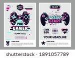 video game posters set. gamer...   Shutterstock .eps vector #1891057789