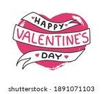 "hand drawn phrase ""happy... | Shutterstock .eps vector #1891071103"