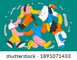 international friendship and...   Shutterstock .eps vector #1891071433