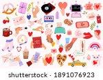 cute lovely scandinavian... | Shutterstock .eps vector #1891076923