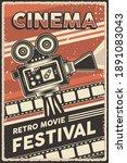 cinema retro movie festival...   Shutterstock .eps vector #1891083043