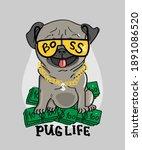 thug life slogan changed onto... | Shutterstock .eps vector #1891086520