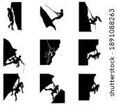 rock climbing silhouette man... | Shutterstock .eps vector #1891088263
