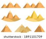 egyptian pyramid vector design...   Shutterstock .eps vector #1891101709